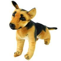 Houwsbaby Realistic Stuffed German Shepherd Dog Soft Animal Plush Toy Gift for Kids Boys Holiday Birthday, Brown, 10'' (Shepherd Dog)
