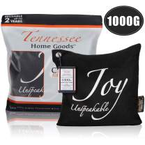 Tennessee Home Goods - Bamboo Charcoal Air Purifying Bags - Organic Odor Absorber, Safe for Kids - Decorative, Stylish Design - Home, Gym, Office, Car Freshener and Purifier - Joy Unspeakable - 1000g