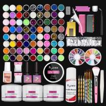 Acrylic Nail Kit with Everything, 72 Colored Nail Acrylic Nail Set for Beginner and Artist, Professional Nail Art Set
