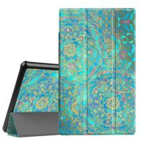 Fintie Slim Case for All-New Amazon Fire HD 10 Tablet (Compatible with 7th and 9th Generations, 2017 and 2019 Releases) - Ultra Lightweight Protective Stand Cover with Auto Wake/Sleep, Shades of Blue