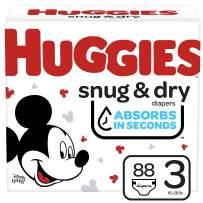 Huggies Snug & Dry Baby Diapers, Size 3, 88 Ct