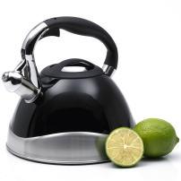 Creative Home Crescendo Black 3.1 Qt Stainless Steel Whistling Tea Kettle