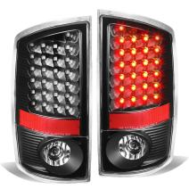 Replacement for Dodge Ram Pickup 3rd Gen Pair of Black Housing Clear Lens LED Brake Tail Lights