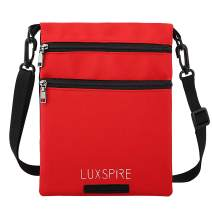 Luxspire Casual Cross-body Bag, Men Women Small Shoulder Pouch Travel Wallet