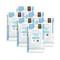 Simpleaf Flushable Wet Wipes | Eco- Friendly, Paraben & Alcohol Free | Hypoallergenic & Safe for Sensitive Skin | Unscented Soothing Aloe Vera Formula | (25-Count) 6 Pack
