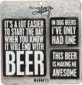 Primitives by Kathy Wooden Set, 3-Piece, Beer Magnet