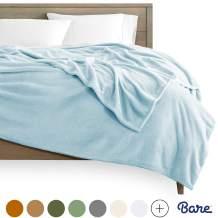 Bare Home Microplush Fleece Blanket - King Size - Ultra-Soft Velvet - Luxurious Fuzzy Fleece Fur - Cozy Lightweight - Easy Care - All Season Premium Bed Blanket (King, Light Blue)