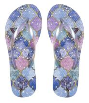 Showaflops Womens Antimicrobial Shower & Water Sandals for Pool, Beach, Dorm and Gym - Elegance Collection