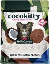 ECO>ABSORB Coconut Cat Litter - Flushable Hypoallergenic Lightweight Kitty Litter - Odor Free, Natural, Biodegradable - CocoKitty