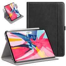 Ztotop Case for iPad Pro 11 Inch 2018 Release,[360 Degree Rotating/Genuine Leather] Multiple Viewing Angles Folding Stand Folio Cover with Auto Wake/Sleep,Black