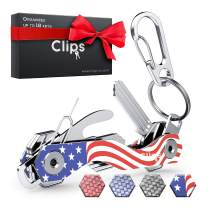 Clips Smart Compact Key Holder Keychain - Made of Carbon Fiber & Stainless Steel- Pocket Organizer Up to 38 Keys- Lightweight, Strong Includes Bottle Opener, Carabiner & More