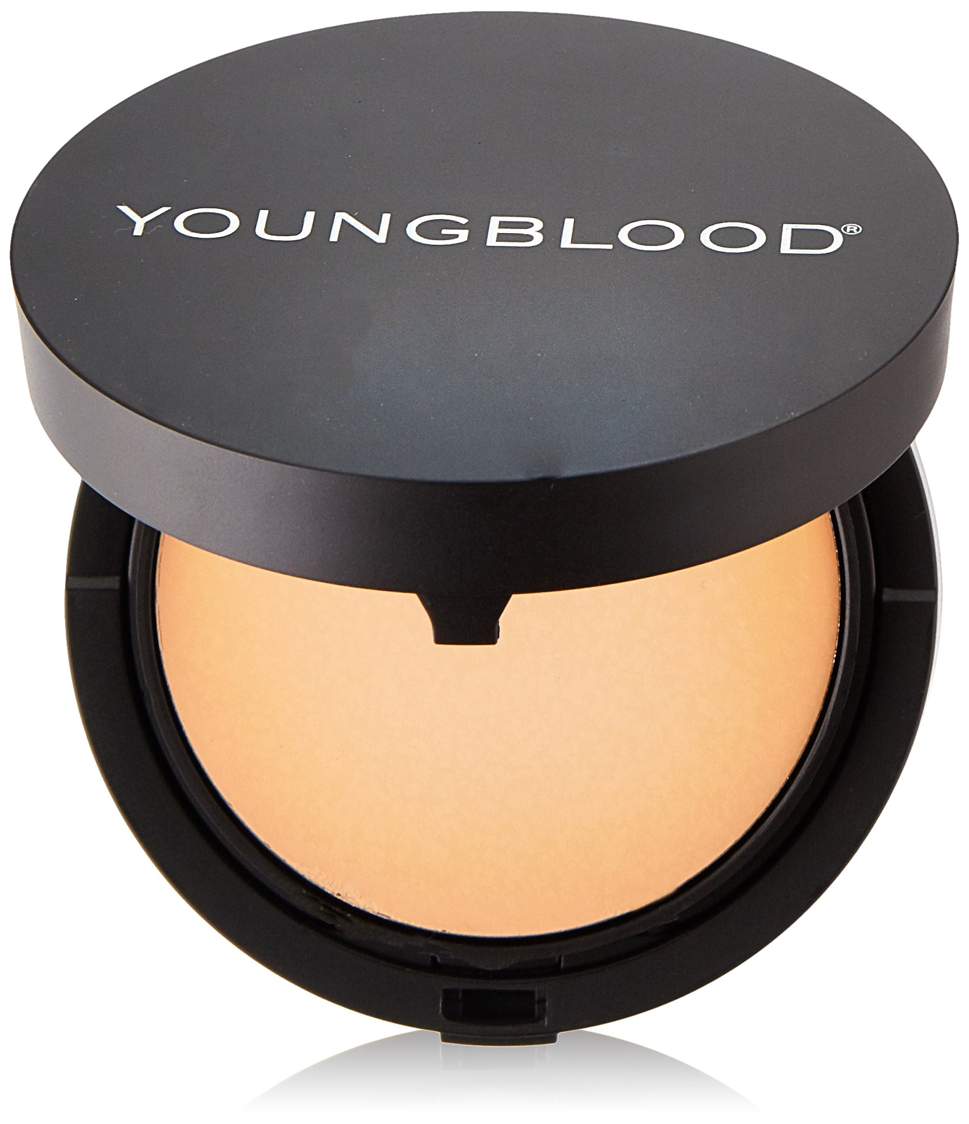 Youngblood Clean Luxury Cosmetics Mineral Radiance Crème Powder Foundation, Honey   Foundation for Oily Skin Rosacea Dry Matte Shine-Free Pressed Compact Natural Mineral