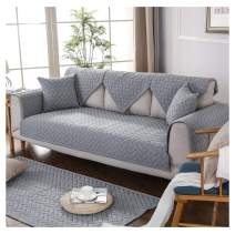 """GIANCO FERRO Sectional Sofa Slipcover Throw Covers Furniture Protector for Seat Multi-Size Soft Quilted Couch Covers for Pets Kids Gray,36""""x71"""""""