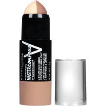Maybelline New York Makeup Facestudio Master Contour V-Shape Duo Stick, Light Shade Contour Stick, 0.24 oz