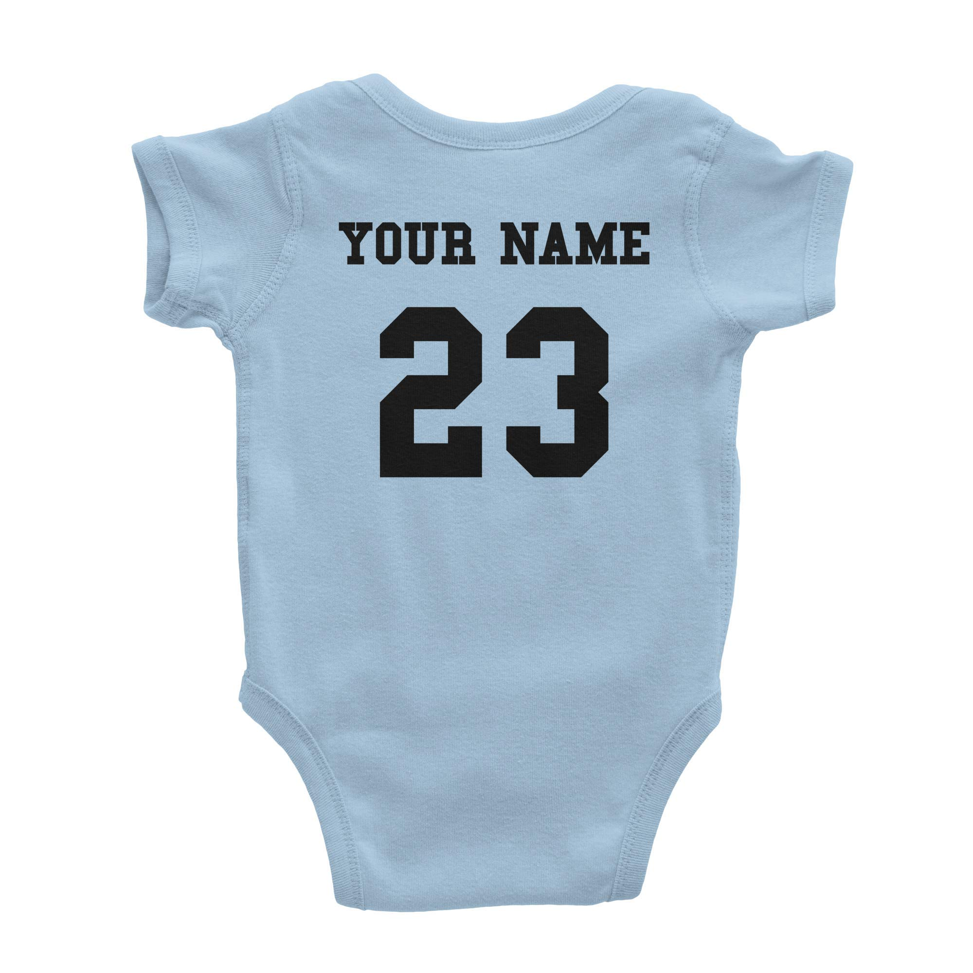 Basketball Custom One Piece Bodysuit for Baby – Personalized Name and Number