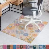 Anji Mountain Rug'd Chair Mat, 36 x 48-Inch, Flower Child