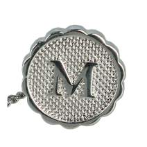 Ascentix Men's Silver Tie Tack with Initial
