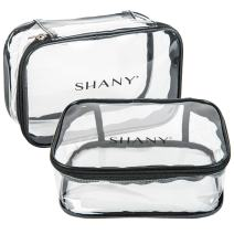 SHANY Slumber Party Cosmetics Clear Travel Bag - Waterproof Multi-use Makeup, Nail and Travel Storage - 1 Count