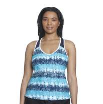 ZeroXposur Womens Raceback Sport Tankini Top Swimsuit Shirt