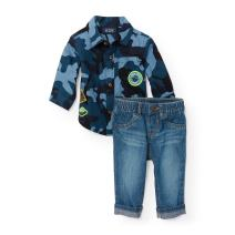 The Children's Place Baby Boys' Shirt and Pants Set