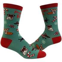 Puppermint Bark Socks Funny Pet Dog Puppy Animal Lover Christmas Candy Footwear