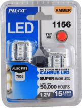 Pilot Automotive (IL-1156A-15-AM) Amber 15-SMD LED Stop/Tail Light Bulb - 2 Piece