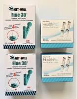 GET•WELL Fine 30g Universal Twist Lancets - Made in Canada ! 200 CT HealthPro Blood Glucose Test Strips