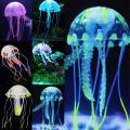 Uniclife Glowing Jellyfish/Christmas Tree Sillicon Ornament Decoration for Aquarium Fish Tank