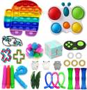 Fidget Toys Pack, Sensory Fidget Toys Cheap, Fidget Toy Set Figetgets-Toys Pack Fidget Box, Fidget Pack with Simples-Dimples in It, Gifts for Kids&Adults with Autism (Among Us Fidget Toy)