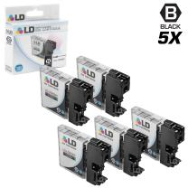 LD Compatible Ink Cartridge Replacement for Brother LC65BK High Yield (Black, 5-Pack)