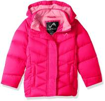 Vertical '9 Girls' Quilted Fashion Bubble Jacket