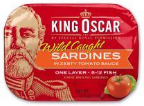 King Oscar Wild Caught Sardines Zesty Tomato, 3.75 Ounce (Pack of 12)