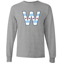 Chicago Flag W - Chi Town, City Pride Long Sleeve T Shirt