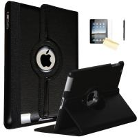 JYtrend iPad Mini Case, (R) Rotating Stand Smart Case Cover Magnetic Auto Wake Up/Sleep for iPad Mini 1/Mini 2/Mini 3 A1432 A1454 A1455 A1489 A1490 A1491 A1599 A1600 A1601 (Royal Black)