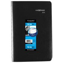 """AT-A-GLANCE DayMinder Daily Appointment Book / Planner, January 2018 - December 2018, 4-7/8"""" x 8"""", Black (G10000)"""