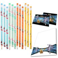 Totem World 12 Pencils with 6 Notepads & 2 Sticker Sheets - Number 2 Pencils - Awesome Back-to-School Presents, Classroom Rewards, and Kids Party Favors - Perfect for Pokemon Fans