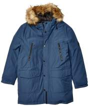 Alpine North Mens Vegan Down Drawstring Winter Jacket, sea Blue, XL