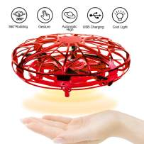 FCONEGY Gravity Defying Drone,Operated Mini Toy Drone for Kids,USB Rechargeable Indoor Drone,Most Popular 2020 Birthday Gift for4,5,6,7,8,9,10,11, Year Old Boys and Girls,Red