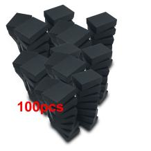 """The Display Guys – Cardboard Jewelry Boxes with Cotton – 100 Pack – Matte Black – #11 (2 1/8"""" x 1 6/8"""" x 3/4"""")"""