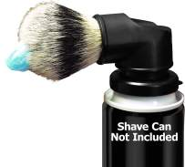 LEGACY SHAVE Evolution Shave Brush for Wet Shave, Attach to Most Shaving Cream & Gel Cans. Offers a Smooth Refreshing Shave Experience with Any Razor Type, Safety Straight Double Edge for Men & Women