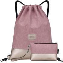 LIVACASA Drawstring Backpack Bag Sports Gym Bag Large Sackpack