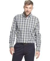 Arrow 1851 Men's Hamilton Poplin Long Sleeve Button Down Plaid Shirt