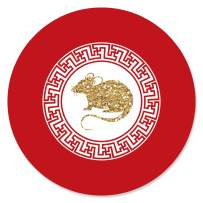 Big Dot of Happiness Chinese New Year - 2020 Year of the Rat Party Circle Sticker Labels - 24 Count