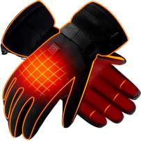 GLOBAL VASION Battery Rechargeable Electric Heated Thermal Winter Hot Gloves For Men Women