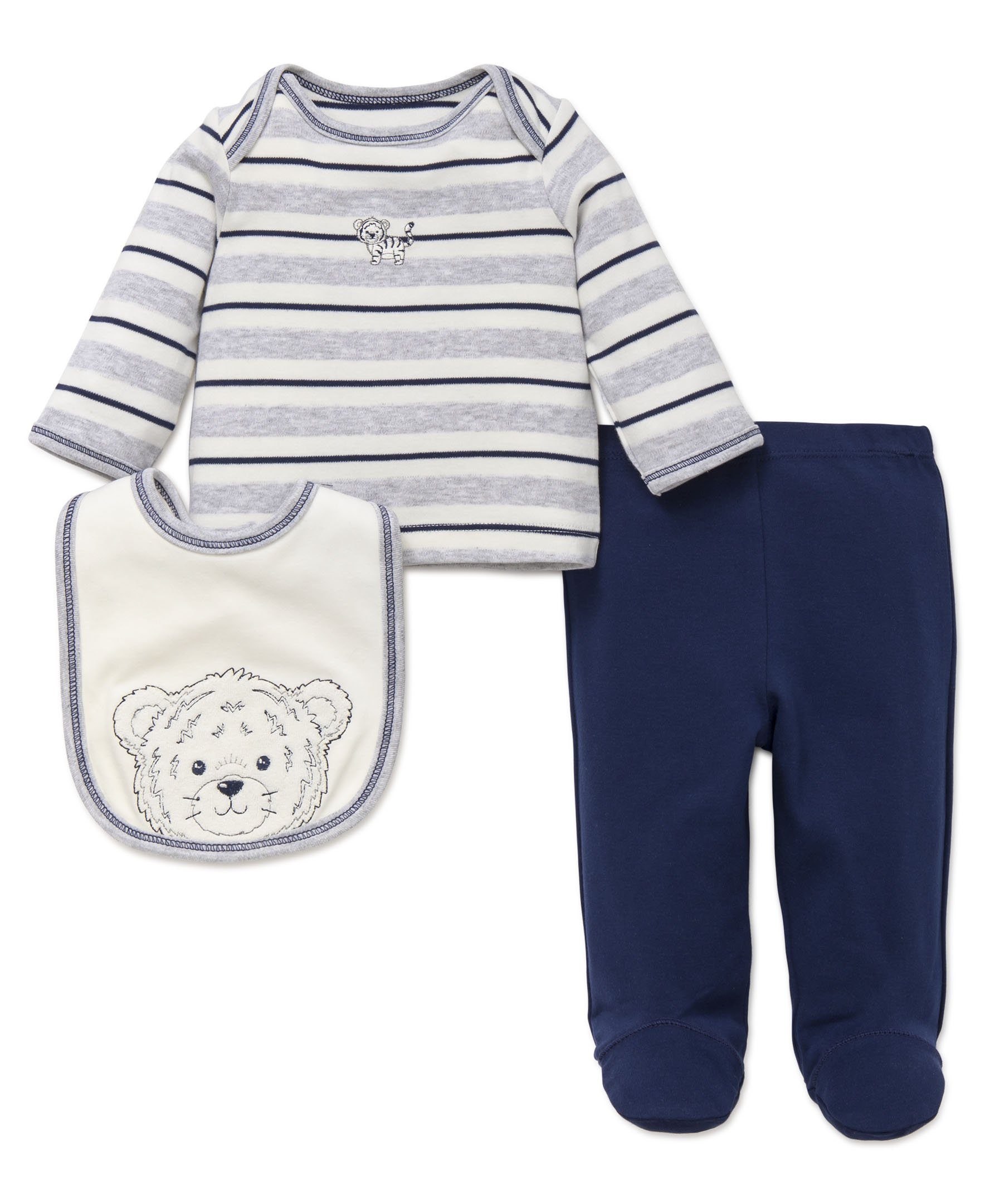 Little Me Boys' 3-Piece Outfit & Bib Set
