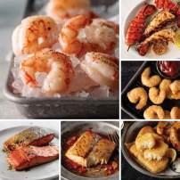 Seafood Lover's Sampler from Omaha Steaks (Wild Argentinian Red Shrimp, Wild Alaskan Skin-On Sockeye Salmon, Wild Cobia Fillets, Pub-Style Cod, Redhook Ale Beer-Battered Shrimp, and more)