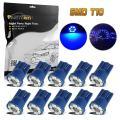 Partsam 10x Blue T10 3020 SMD LED License Plate Lights 194 168 Bulbs 12V