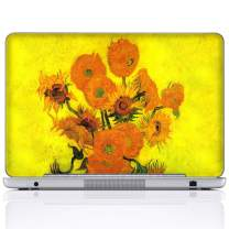 Meffort Inc 15 15.6 Inch Laptop Notebook Skin Sticker Cover Art Decal (Included 2 Wrist pad) - Van Gogh Sunflowers