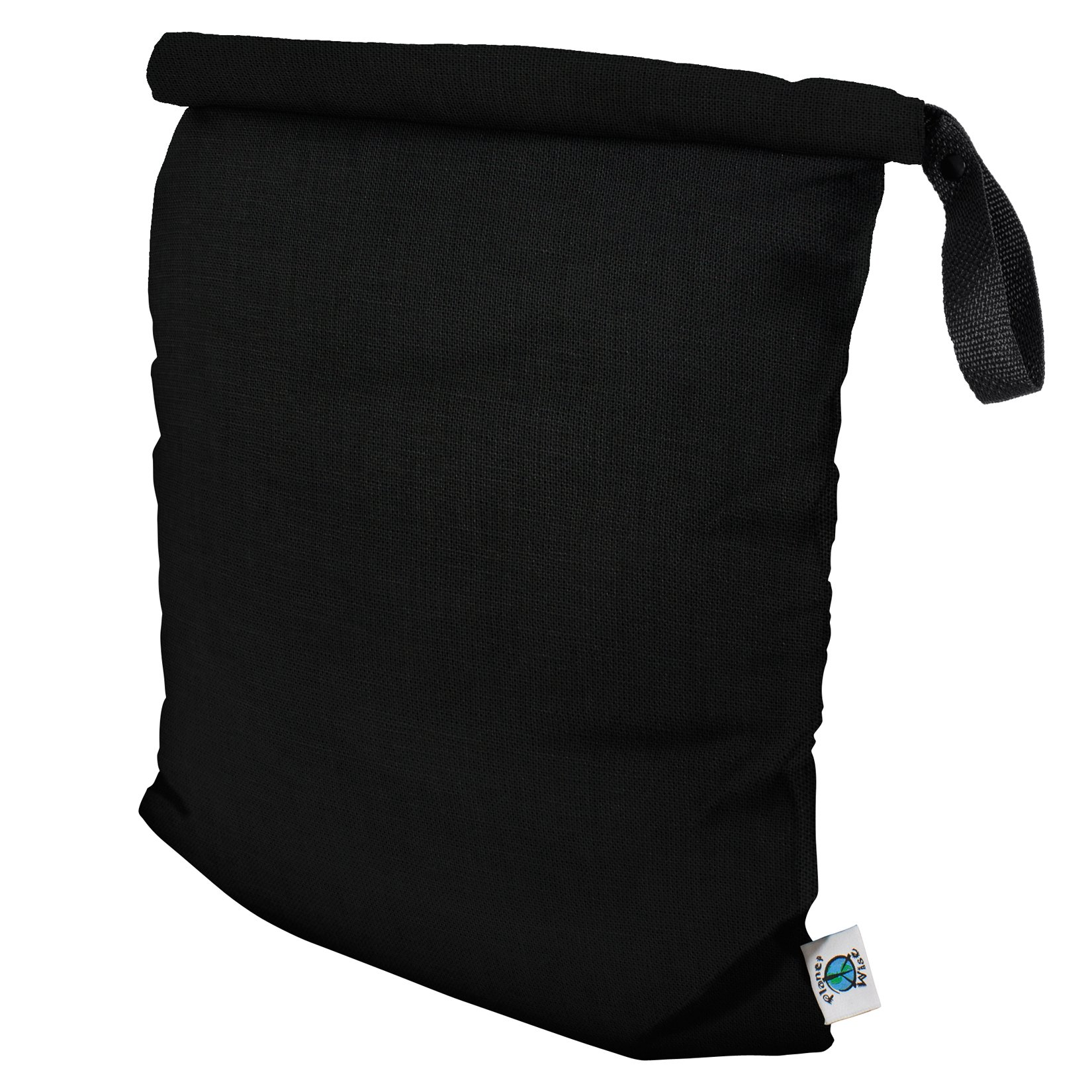 Planet Wise Roll Down Wet Diaper Bag, Black, Large