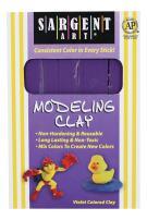 Sargent Art 22-4042 1-Pound Solid Color Modeling Clay, Violet